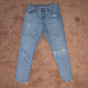 Women's high-waisted Levi Jeans